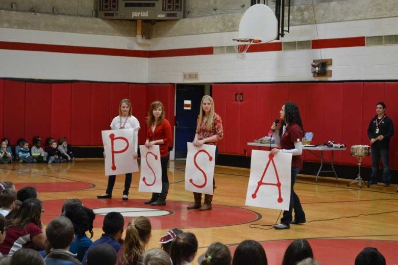 Student teachers plan PSSA pep rally for third and fourth graders (video and photo gallery)