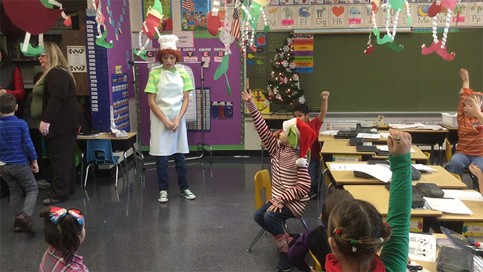 """""""Superkids"""" character entertains elementary students (video)"""
