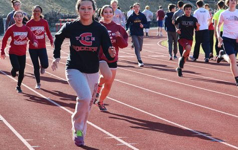 Spring track starts up while winter sports come to an end