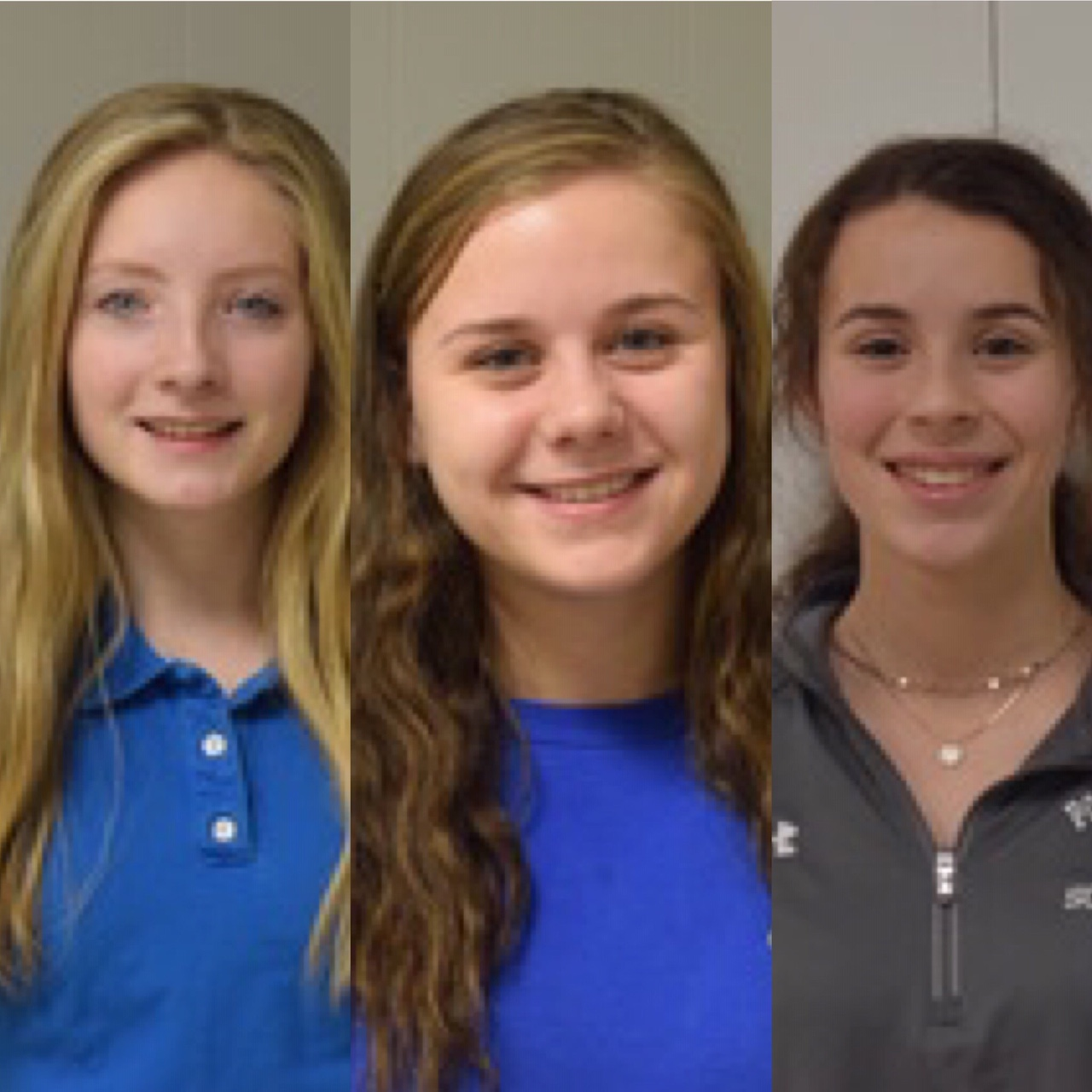 """Pottsville juniors: Isabelle Myers, Madison Dalton, and Anya Wojciechowksy are smiles knowing they will represent PAHS at Winter Carnival. They all ran for the title of Snowflake Princess. """"I'm looking forward to meeting new friends,"""" said Dalton."""