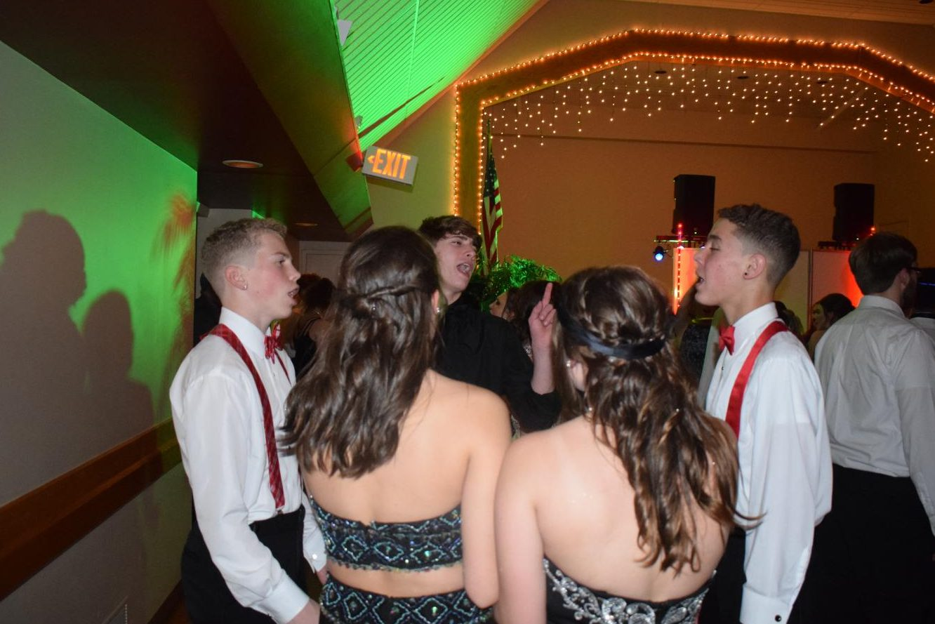 Students attend the yearly Christmas Prom at Hillcrest Hall in Minersville.