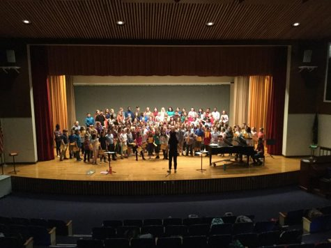 5th and 6th graders prepare for spring choir concert