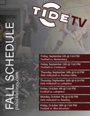 TideTV Fall Schedule