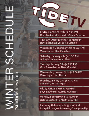 TideTV Winter Schedule