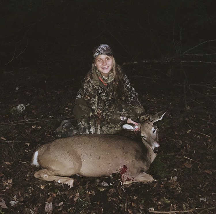 Senior+Madison+Dalton+shot+her+first+deer+of+the+deer+archery+season.+Dalton+has+been+hunting+for+several+years+and+hoped+for+the+coming+seasons.+%E2%80%9CMy+favorite+part+about+hunting+is+sitting+in+the+wilderness+for+hours+and+watching+animals+do+their+thing%2C+in+the+wild-completely+unaware+of+my+presence.+There+is+absolutely+nothing+cooler+than+that+and+I+also+love+being+able+to+spend+quality+time+with+my+dad.%E2%80%9D