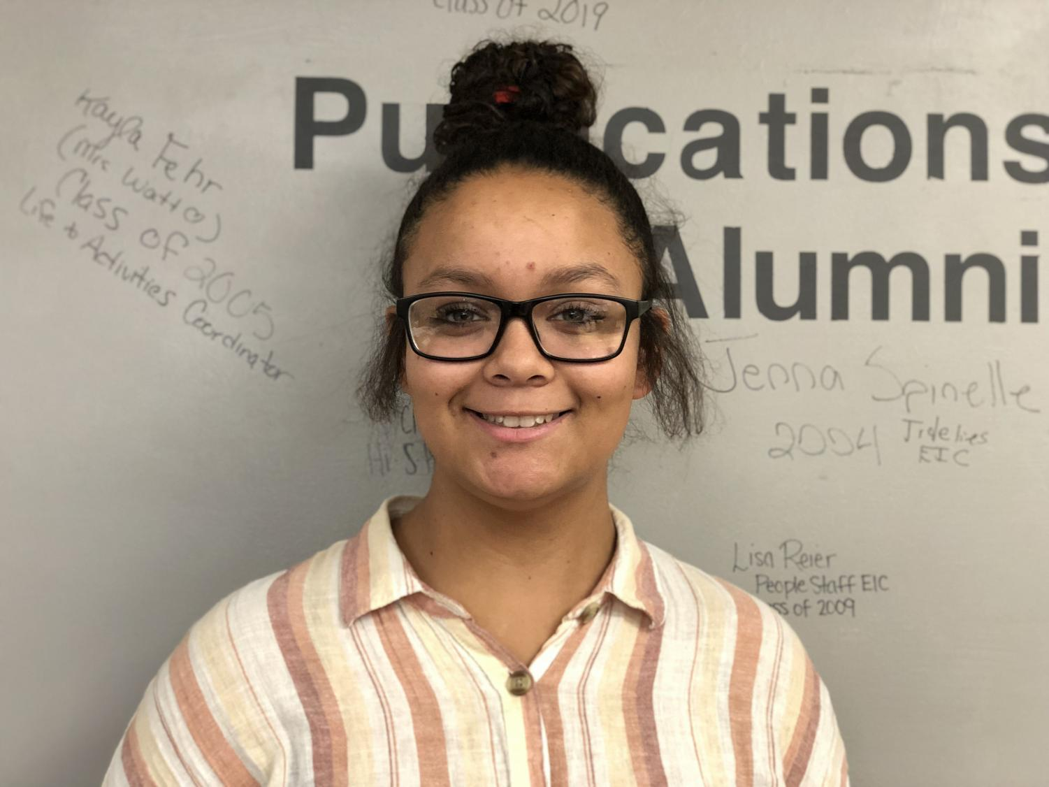 Freshman Tayla Jones has been playing both basketball and softball since elementary school. In addition to participating in these two sports during her freshman year at PAHS, Jones is also an extra-curricular member of the Publications team.