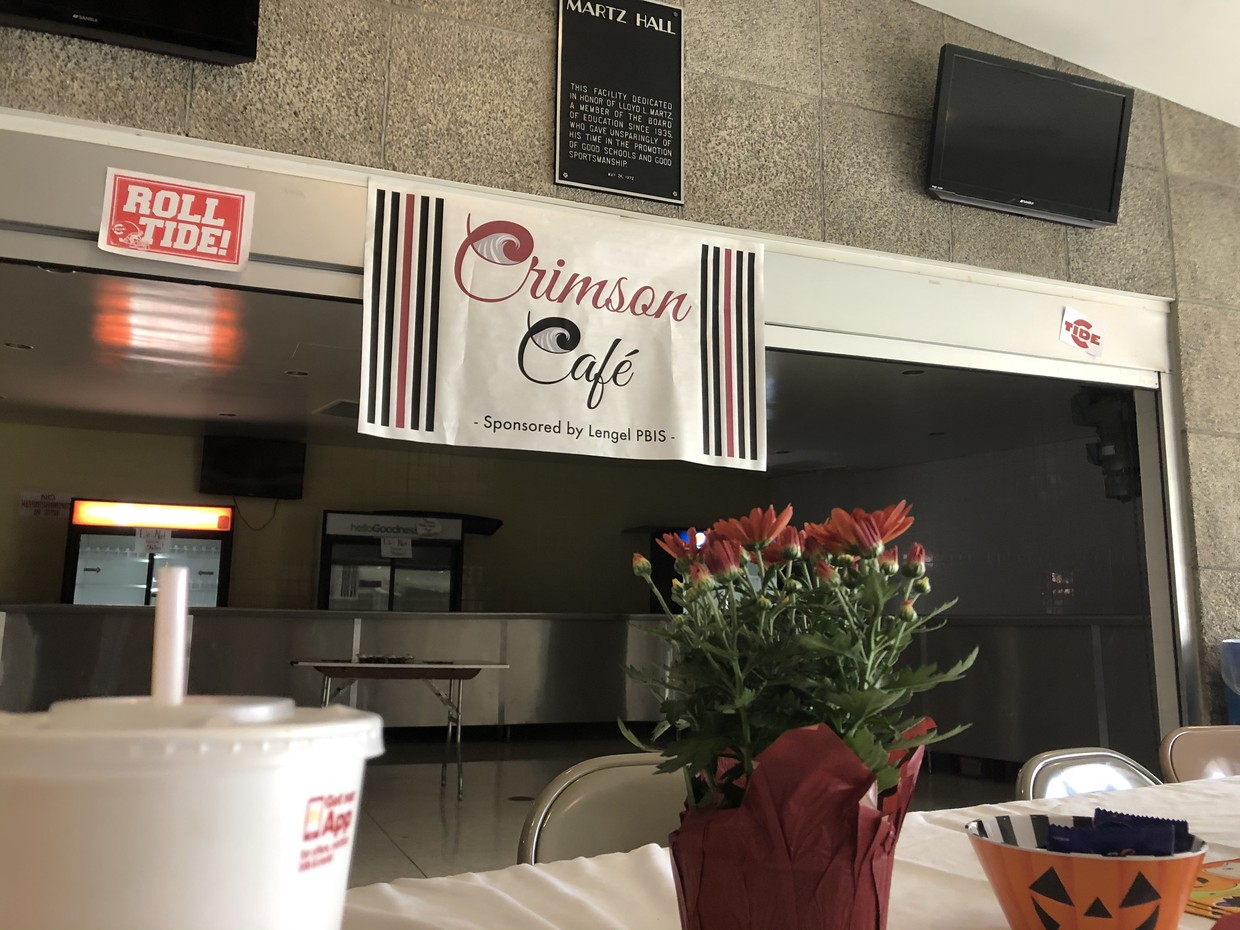 DINE - Lengel students have the opportunity to redeem their Crimson Cash for lunch from a restaurant once per month at the Crimson Cafe pictured here at the top of Martz Hall.