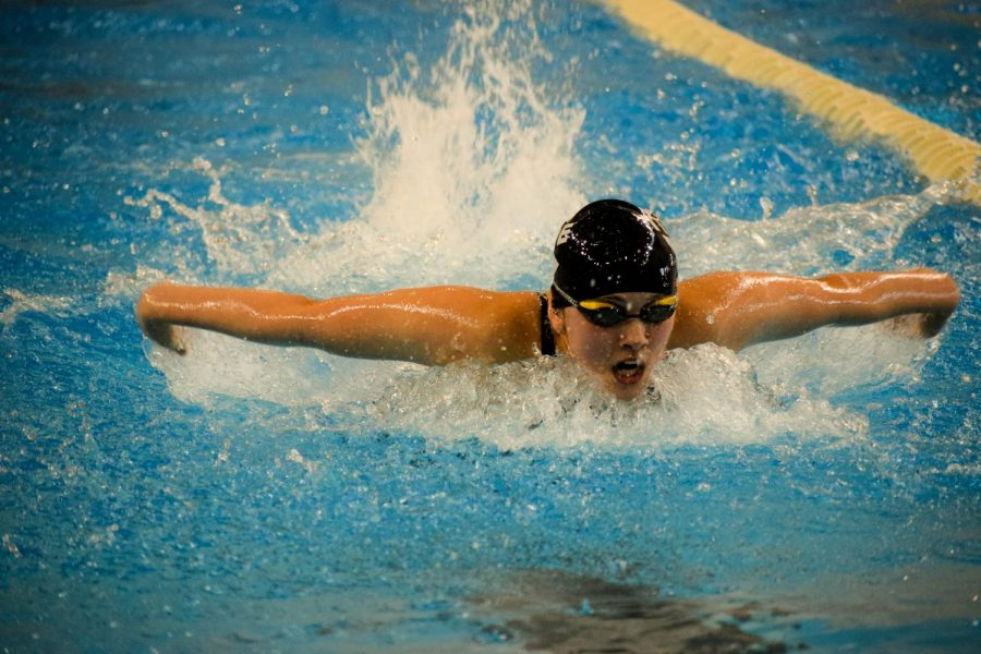 Freshman+Taleah+Ruben+swims+the+100+butterfly+during+the+Schuylkill+League+Championship.