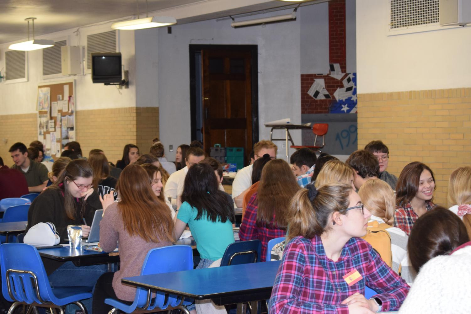 Students who excel in their foreign language classes enjoy a special breakfast. Later that day, they were inducted into their respective Foreign Language National Honors Societies. Sophomore Emma Smith said,