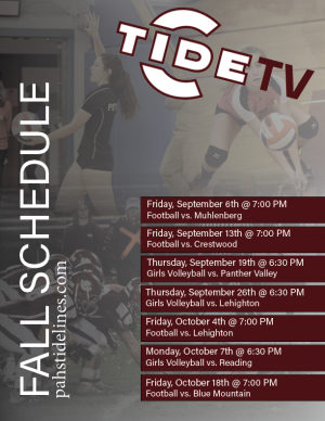 TideTV Fall Schedule